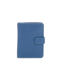 Large Snap Wallet-Aqua