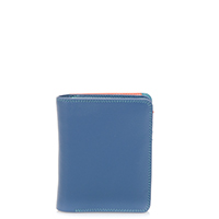 Medium Zip Wallet-Aqua