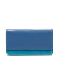 Medium Matinee Wallet-Aqua
