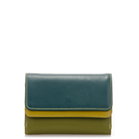 Double Flap Purse/Wallet-Evergreen