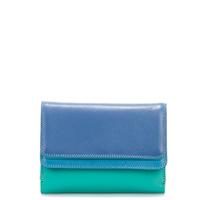 Double Flap Purse/Wallet-Aqua