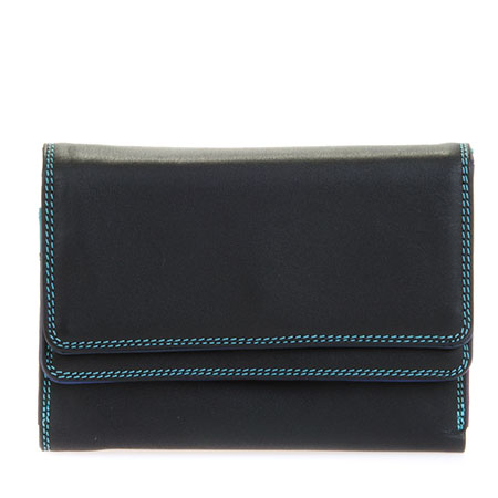 Double Flap Purse/Wallet-Black/Pace
