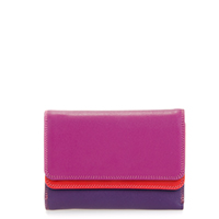 Double Flap Purse/Wallet-Sangria Multi