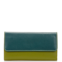 Tri-fold Zip Wallet-Evergreen