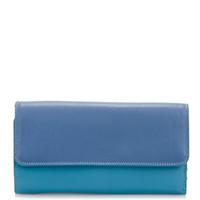 Tri-fold Zip Wallet-Aqua