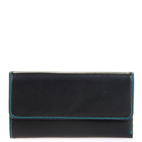 Tri-fold Zip Wallet-Black/Pace