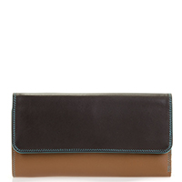 Tri-fold Zip Wallet-Chocolate Mousse