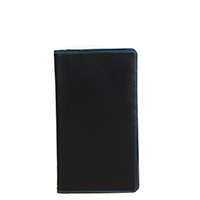 Cheque Book Holder-Black/Pace