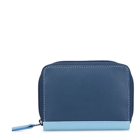 Zipped Credit Card Holder-Royal