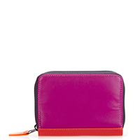 Zipped Credit Card Holder-Sangria Multi