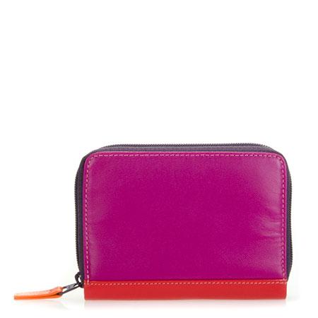 Zipped Credit Card Holder-Sangria Multi