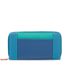 Large Zip Wallet-Aqua