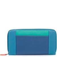 Large Zip Wallet-Aqua