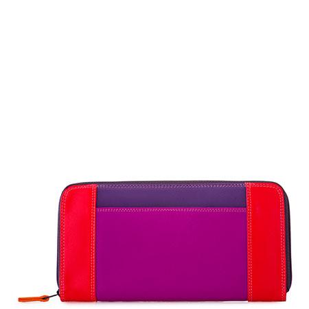 Large Zip Wallet-Sangria Multi