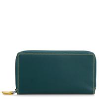 Large Double Zip Wallet-Evergreen
