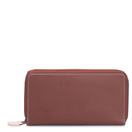 Large Double Zip Wallet-Siena
