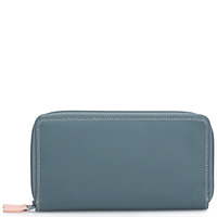 Large Double Zip Wallet-Urban Sky