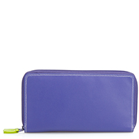 Large Double Zip Wallet-Lavender