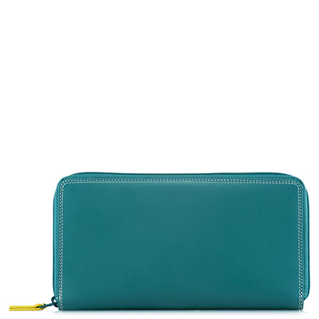 Large Double Zip Wallet-Mint
