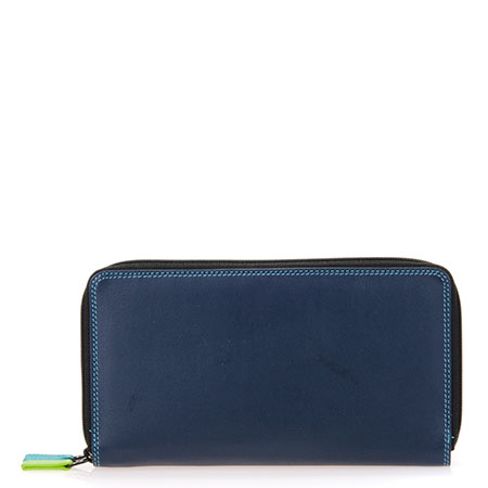 Large Double Zip Wallet-Black/Pace