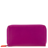 Large Double Zip Wallet-Sangria Multi