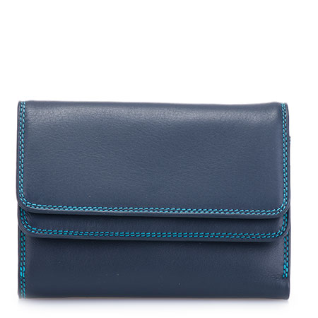 Double Flap Wallet-Navy