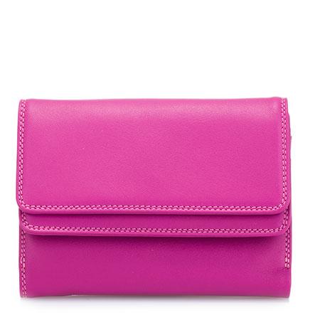 Double Flap Wallet-Fuchsia