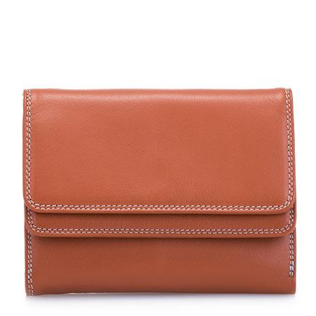 Double Flap Wallet-Tan