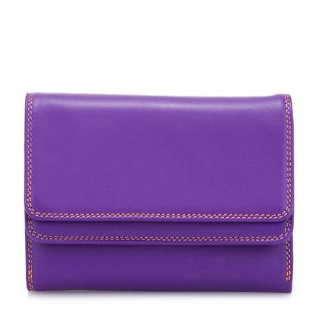 Double Flap Wallet-Purple