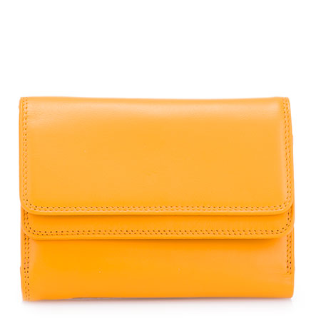 Double Flap Wallet-Yellow