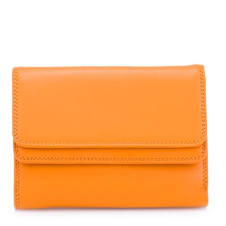 Double Flap Wallet-Orange