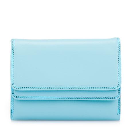Double Flap Wallet-Sea Blue