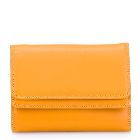 Double Flap Wallet-Dark Yellow