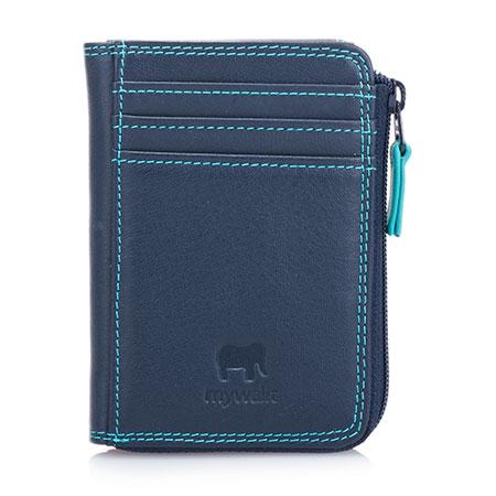 Small Zip Purse Wallet-Navy