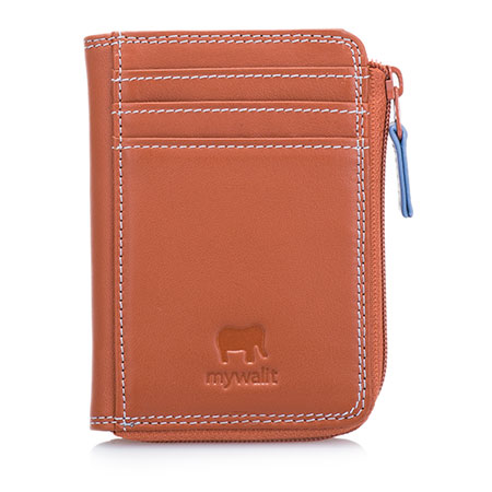 Small Zip Purse Wallet-Tan