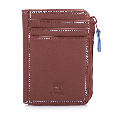 Small Zip Purse Wallet-Brown