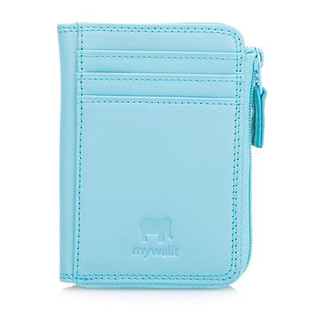 Small Zip Purse Wallet-Sea Blue