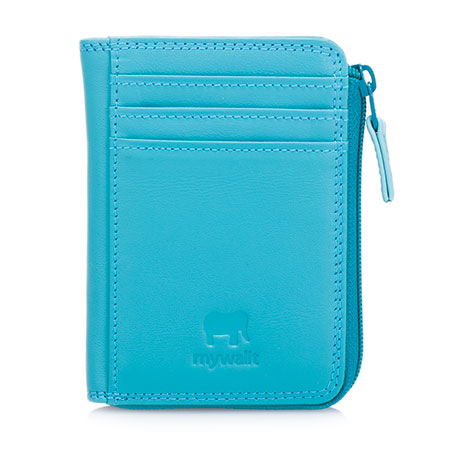 Small Zip Purse Wallet-Turquoise