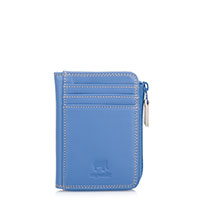 Small Zip Purse Wallet-Dusky Blue