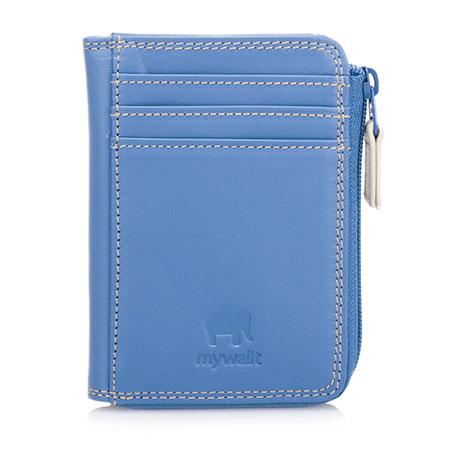 Small Zip Purse Wallet-Dusky Blue