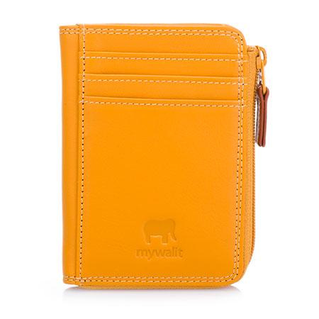 Small Zip Purse Wallet-Dark Yellow