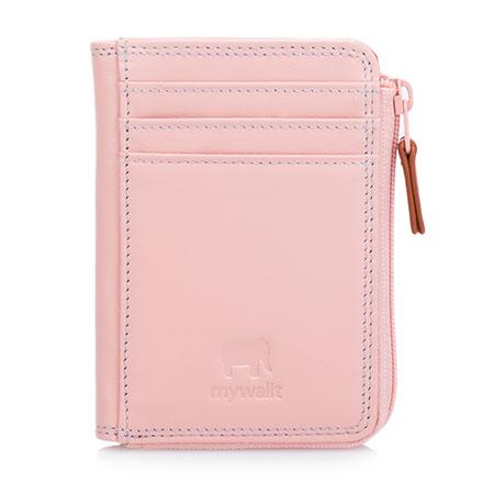Small Zip Purse Wallet-Rose
